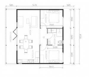 House 3 Living with Terrace 65m2